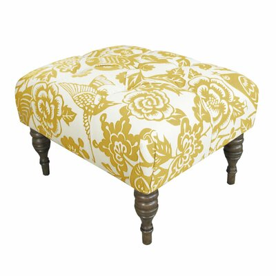 Canary Upholstered Ottoman Upholstery: Maize