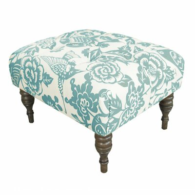 Canary Upholstered Ottoman Upholstery: Canary Robin