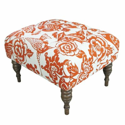 Canary Upholstered Ottoman Upholstery: Tangerine