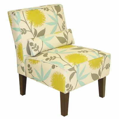 Skyline Furniture Floral Slipper Chair - Color: Poly Aegean at Sears.com