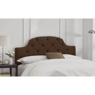Tufted Upholstered Panel Headboard Size: California King, Color: Linen Chocolate
