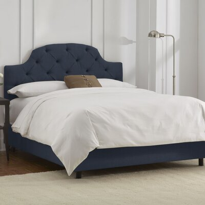 Furniture leasing Panel Bed Size: King, Finish: Navy...