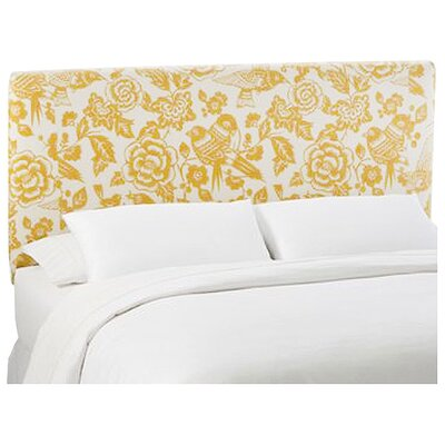 Slip Cover Canary Upholstered Panel Headboard Size: Queen, Color: Canary Maize