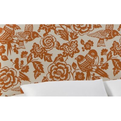 Slip Cover Canary Upholstered Panel Headboard Size: Queen, Color: Canary Tangerine
