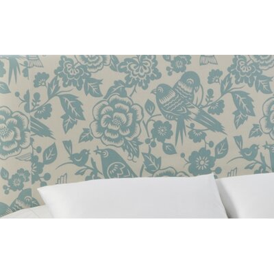 Slip Cover Canary Upholstered Panel Headboard Size: Full, Color: Canary Robin