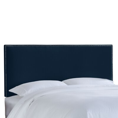 Nail Button Patriot Upholstered Headboard Size: California King, Upholstery: Blueberry
