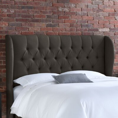 Credit for Tufted Wingback Linen Headboard Siz...