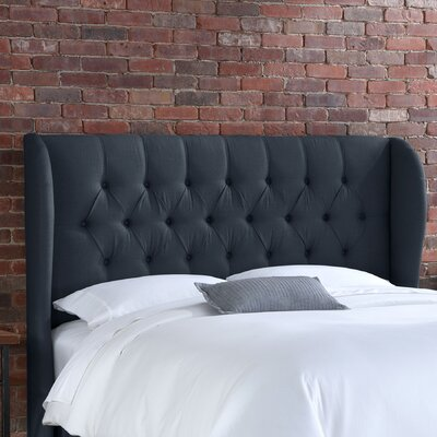 Loan for furniture Tufted Wingback Linen Headboard Col...