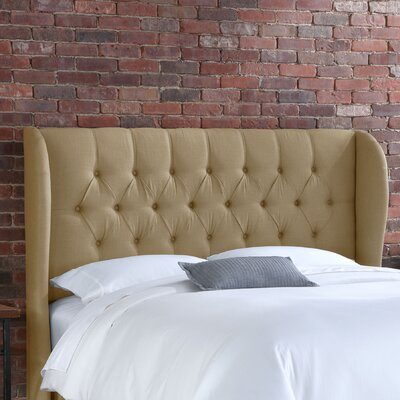 Furniture financing Tufted Wingback Linen Headboard Siz...