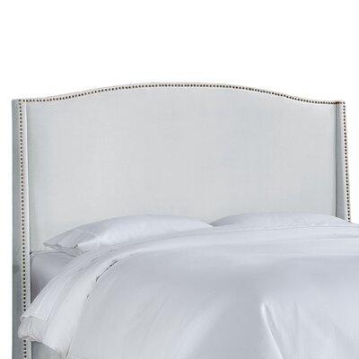 Skyline Furniture Nail Button Velvet Wingback Headboard - Size: Full Color: White