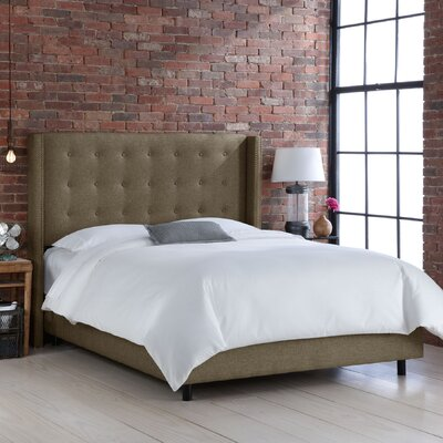 Wingback Upholstered Panel Bed Size: Full, Color: Groupie Gunmetal