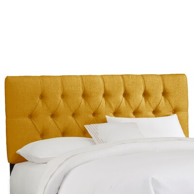 Easy financing Tufted Linen Headboard Size: Twin, ...
