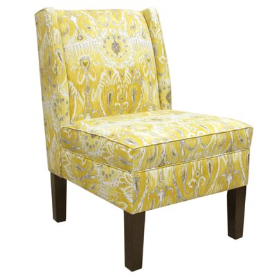 Alessandra Wingback Slipper Chair Color: Lemon