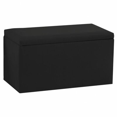 Storage Ottoman Upholstery: Duck Black