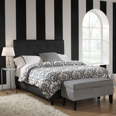 Financing Classico Panel Bed Color: Black, Si...