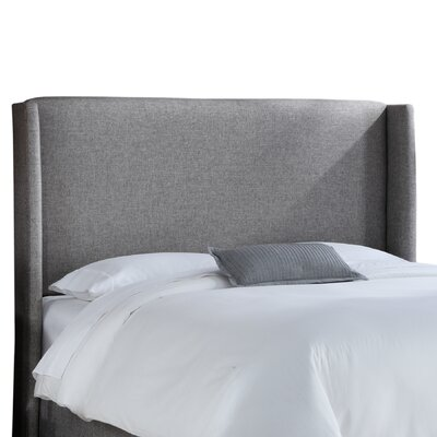 Wingback Upholstered Headboard Upholstery: Groupie Pewter, Size: King