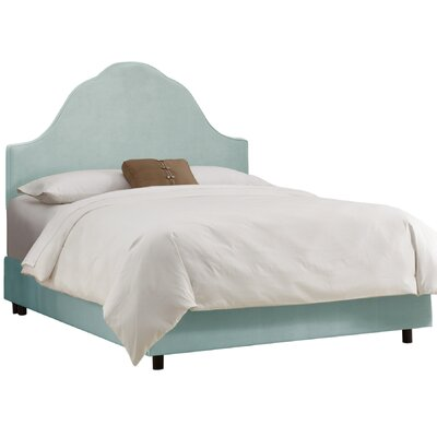 Upholstered Panel Bed Size: Full, Color: Pool