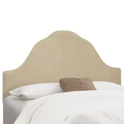 Arched Upholstered Panel Headboard Upholstery: Buckwheat, Size: King