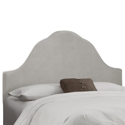 Arched Upholstered Panel Headboard Size: Full, Upholstery: Light Grey