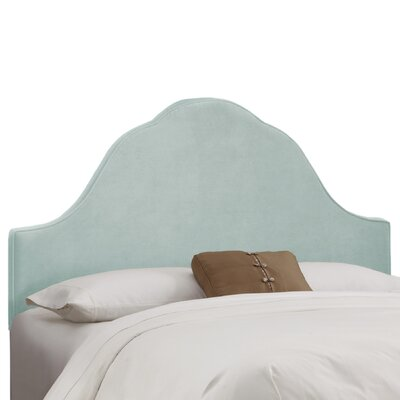 Arched Upholstered Panel Headboard Size: Twin, Upholstery: Pool