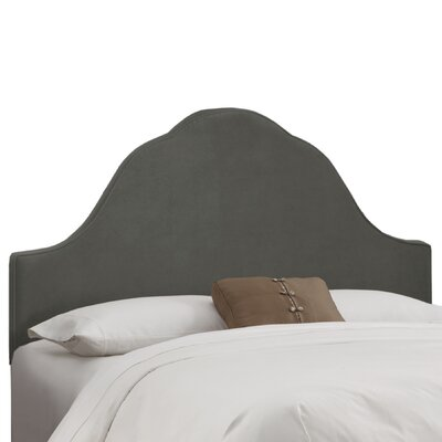 Arched Upholstered Panel Headboard Size: Queen, Upholstery: Pewter