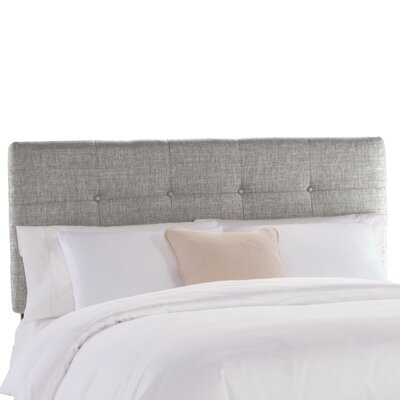 Tufted Upholstered Panel Headboard Size: Queen, Upholstery: Groupie Pewter