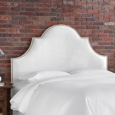 Easy furniture financing Velvet High Arch Panel Headboard Si...