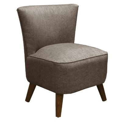 Crown Slipper Chair Upholstery: Groupie Gunmetal