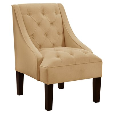Alexa Tufted Velvet Armchair Color: Buckwheat