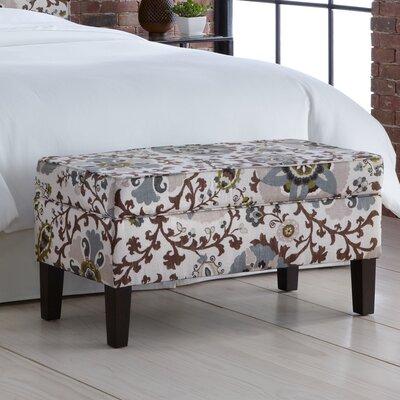 Silsila Fabric Storage Bedroom Bench