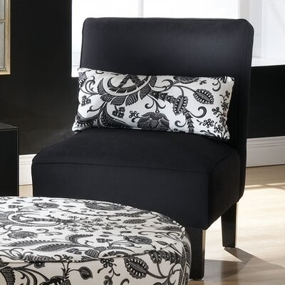 Premier Fabric Slipper Chair Color: Pure Black