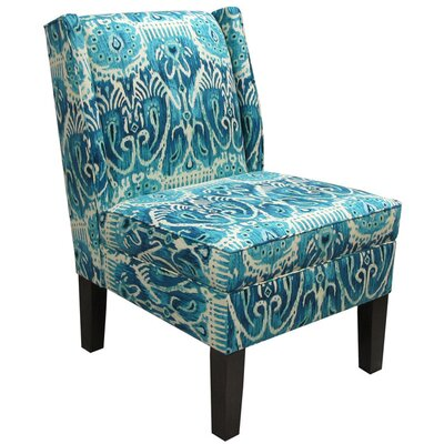 Alessandra Wingback Slipper Chair Color: Teal