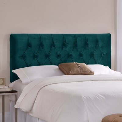 Tufted Upholstered Panel Headboard Size: King