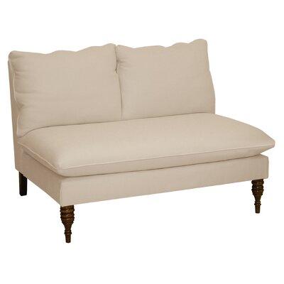 Linen Settee Upholstery: Linen Petal