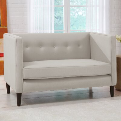Skyline Furniture 3306LNNTLC Linen 5 Button Chaise Loveseat Upholstery