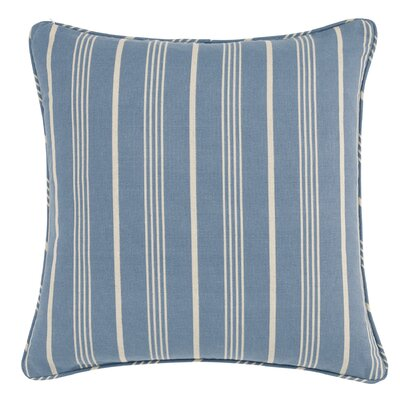 Grain Sack Stripe Throw Pillow Color: Bluestone