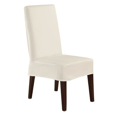 Sure Fit Twill Supreme Short Chair Slipcover - Color: Coffee