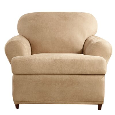 Stretch Leather Armchair T-Cushion Slipcover