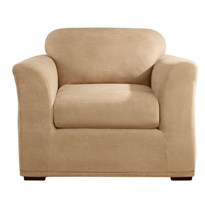 Stretch Leather Armchair Slipcover