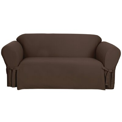 Cotton Duck Sofa Slipcover Upholstery: Warm Chocolate