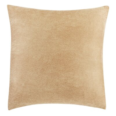 Stretch Leather Pillow Color: Camel