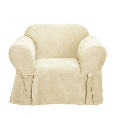 Soft Suede Armchair Slipcover