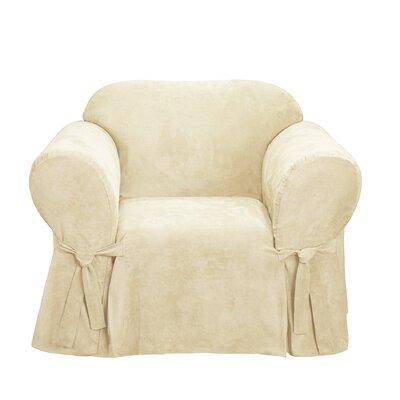 Soft Suede Box Cushion Armchair Slipcover