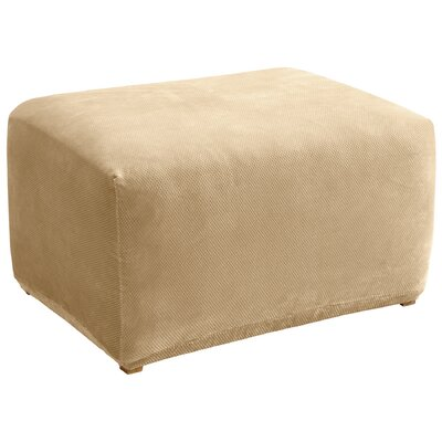 Stretch Pique Ottoman Slipcover Upholstery: Cream