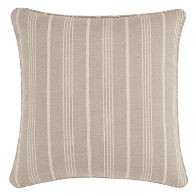 Grain Sack Stripe Throw Pillow Color: Linen