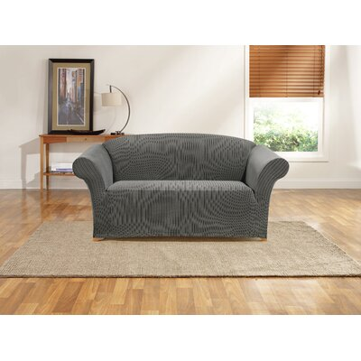 Ribbon Stripe Loveseat Skirted Slipcover