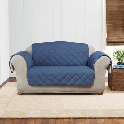 Denim Sherpa Loveseat Slipcover