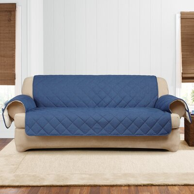 Denim Sherpa T-Cushion Sofa Slipcover