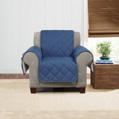 Denim Sherpa Arm Chair Slipcover