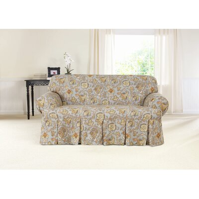 Tennyson Loveseat T-Cushion Skirted Slipcover